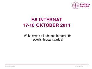 EA internat 17-18 Oktober 2011