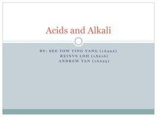Acids and Alkali