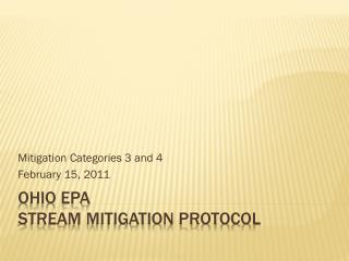 Ohio EPA Stream mitigation protocol