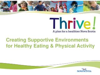 Creating Supportive Environments  for Healthy Eating & Physical Activity