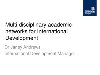 Multi-disciplinary academic networks for International Development