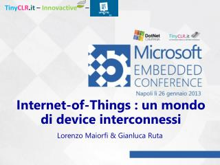 Internet-of-Things : un mondo di device interconnessi