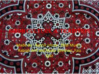 Sindh Culture & Tradition