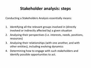 Stakeholder analysis: steps
