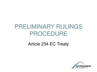 PRELIMINARY RULINGS PROCEDURE