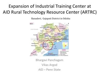 Expansion  of  Industrial Training  Center  at  AID  Rural Technology Resource Center (ARTRC )