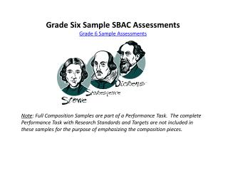Grade Six Sample SBAC Assessments Grade 6 Sample Assessments