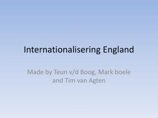 Internationalisering  England
