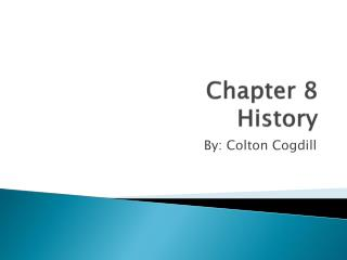 Chapter 8 History