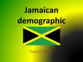 Jamaican demographic