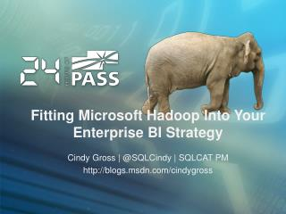 Fitting Microsoft  Hadoop  I nto Your  Enterprise BI Strategy