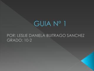 GUIA Nº 1
