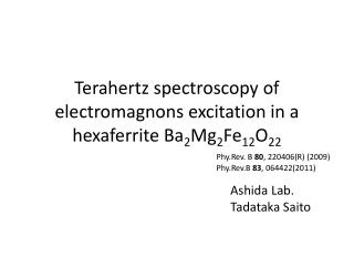 Terahertz spectroscopy of  electromagnons  excitation in a  hexaferrite  Ba 2 Mg 2 Fe 12 O 22