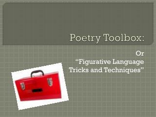 Poetry Toolbox:
