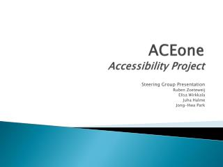 ACEone Accessibility Project