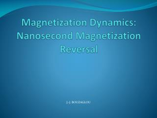 Magnetization Dynamics:  Nanosecond Magnetization Reversal