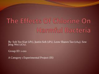 The Effects Of Chlorine On Harmful Bacteria