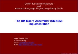 The UM Macro Assembler (UMASM) Implementation