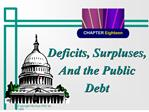 Deficits, Surpluses, And the Public Debt