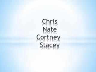 Chris Nate Cortney Stacey