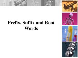 Prefix, Suffix and Root Words