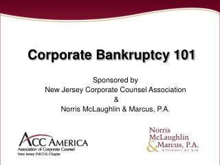 Corporate Bankruptcy 101