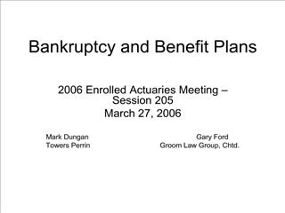 Bankruptcy and Benefit Plans