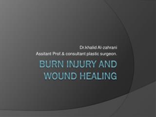 Burn injury and wound healing