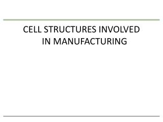 CELL STRUCTURES INVOLVED  IN MANUFACTURING