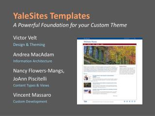 YaleSites Templates  A Powerful Foundation for your Custom Theme