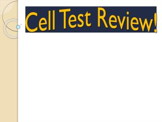 Cell Test Review!
