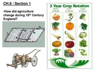 CH.9 / Section 1 How did agriculture change during 18 th  Century England?