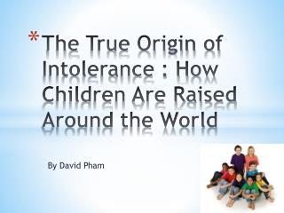 The True Origin of Intolerance : How Children Are Raised Around the World