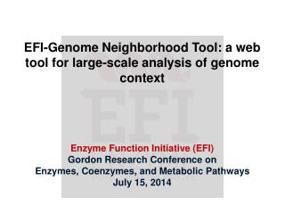 EFI-Genome Neighborhood Tool: a web tool for large-scale analysis of genome context