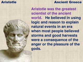 Aristotle Ancient Greece