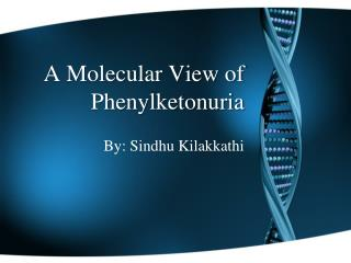 A Molecular View of  Phenylketonuria