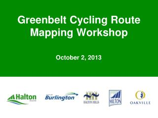 Greenbelt Cycling Route Mapping Workshop