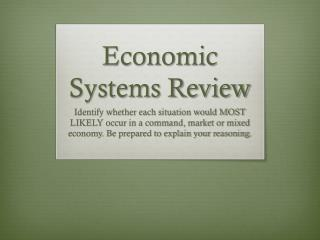 Economic Systems Review
