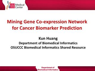 Mining Gene Co-expression Network for Cancer Biomarker Prediction