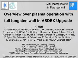 Overview over plasma operation with full tungsten wall in ASDEX Upgrade