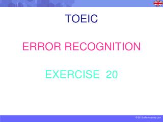 TOEIC ERROR RECOGNITION EXERCISE  20