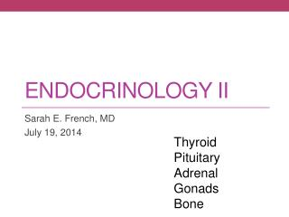 Endocrinology II