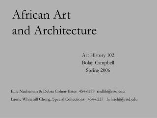 African Art and Architecture