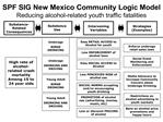SPF SIG New Mexico Community Logic Model Reducing alcohol-related youth traffic fatalities