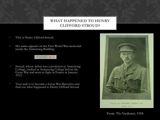 What HAPPENED TO Henry CLIFFORD Stroud?