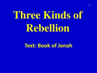 Three Kinds of Rebellion