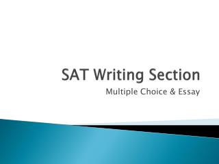 SAT Writing Section