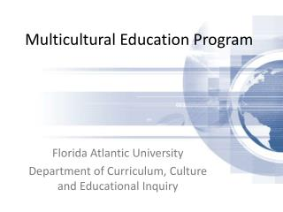 Multicultural Education Program