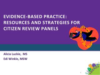 Evidence-Based Practice: Resources and strategies for Citizen Review Panels