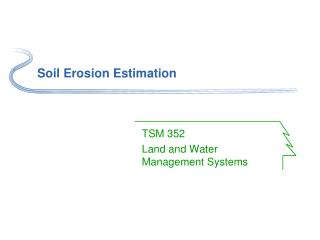 Soil Erosion Estimation